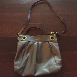 Coach leather shoulder/crossbody